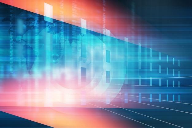 Schermo della tecnologia digitale con codici binari