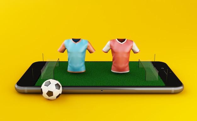Scommessa di calcio 3d online