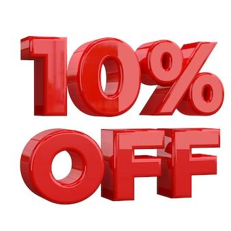 Sconto del 10% su sfondo bianco, offerta speciale, grande offerta, vendita. banner pubblicitario promozionale dieci per cento di sconto