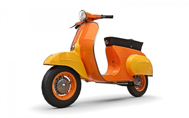 Scooter arancione europeo vintage