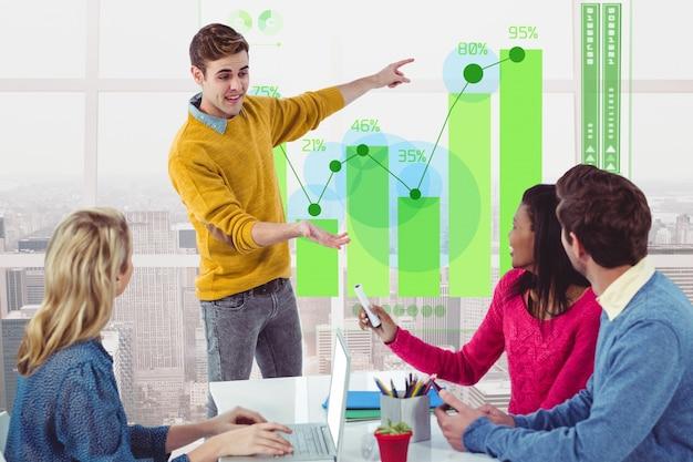 Scrivania creativo monitor di tecnologia digitale generata