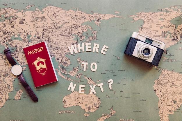 Scrivere sulla mappa vicino a forniture turistiche