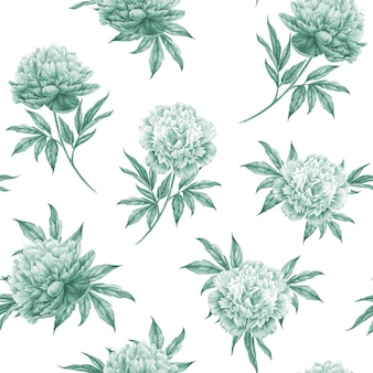 Seamless pattern floreale con rose, acquerello. illustrazione vettoriale