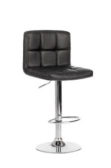 Sedia moderna nera della barra isolata su fondo bianco