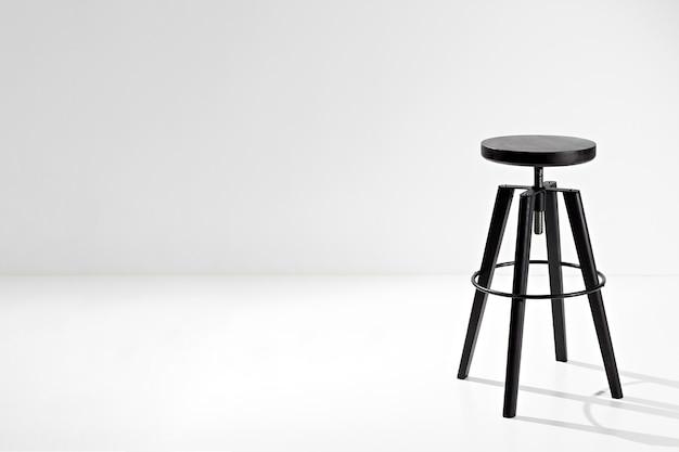 Sedia vintage in rovere nero con altezza del sedile regolabile