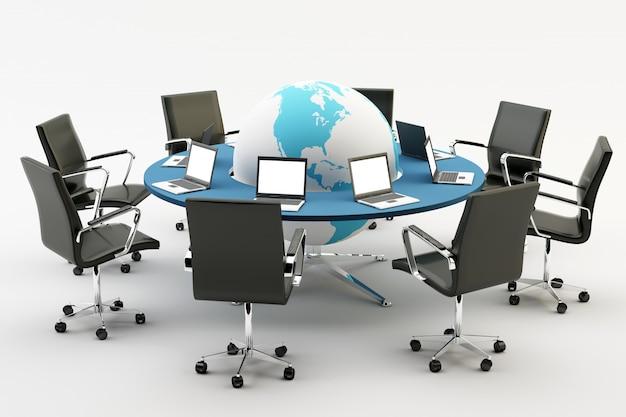 Sedie e tavolo da ufficio