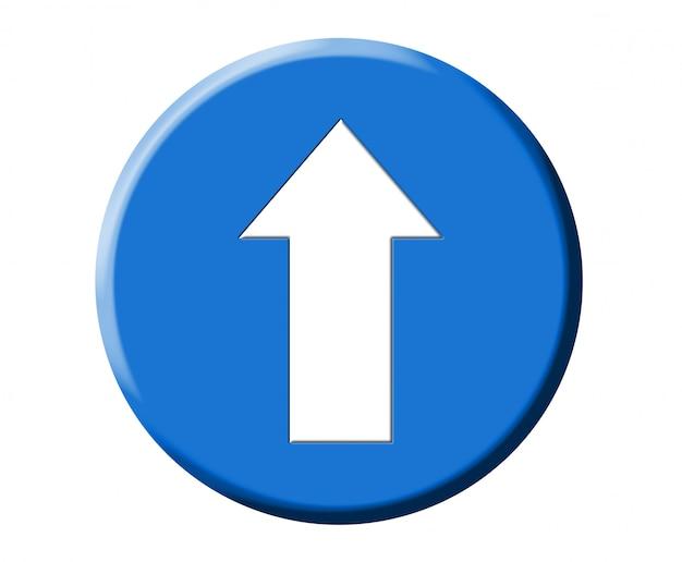 Segnale stradale blu rotondo europeo