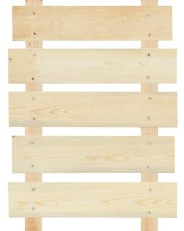 Segno di legno vuoto isolato