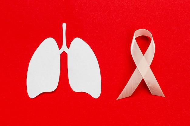 Segno di medicina con forma di polmoni