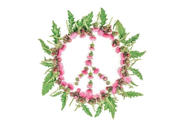 Segno di pace (pacifico) -un simbolo di pace, disarmo e movimento contro la guerra
