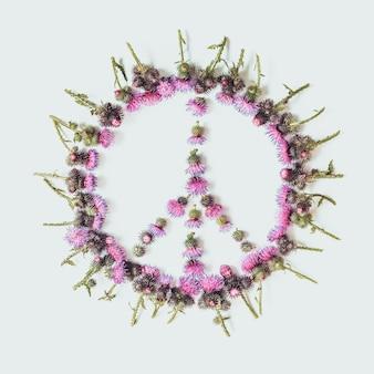 Segno di pace (pacifico) - un simbolo di pace, disarmo e movimento contro la guerra