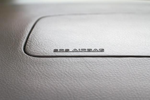 Segno srs airbag - sfondo di sicurezza della tecnologia.