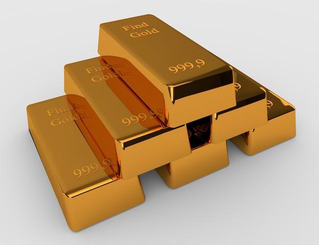 Sei lingotti d'oro