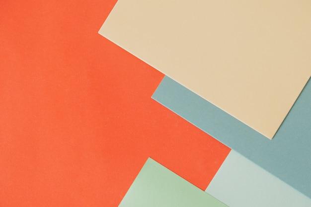 Selezione di carta in vari colori di sfondo