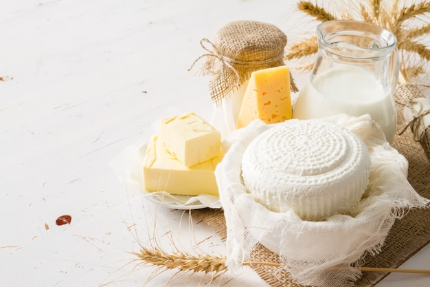 Selezione di prodotti lattiero-caseari