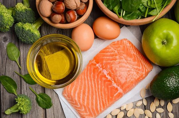 Selezione di prodotti sani.