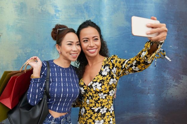 Selfie con un amico