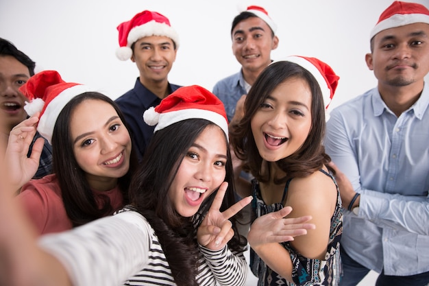 Selfie di gruppo chirtsmas party