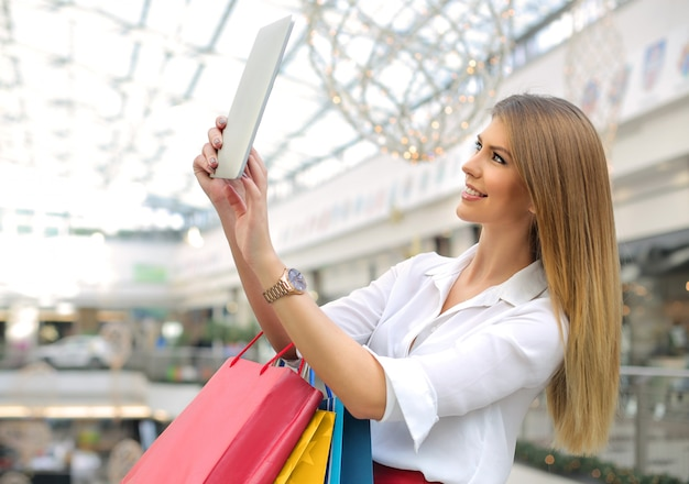 Selfie nel centro commerciale