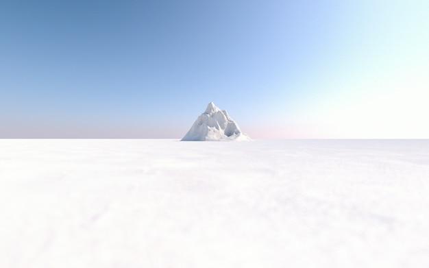 Semplice scena 3d di montagna