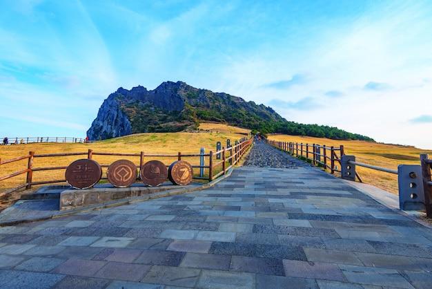 Seongsan ilchulbong, jeju island, corea del sud.