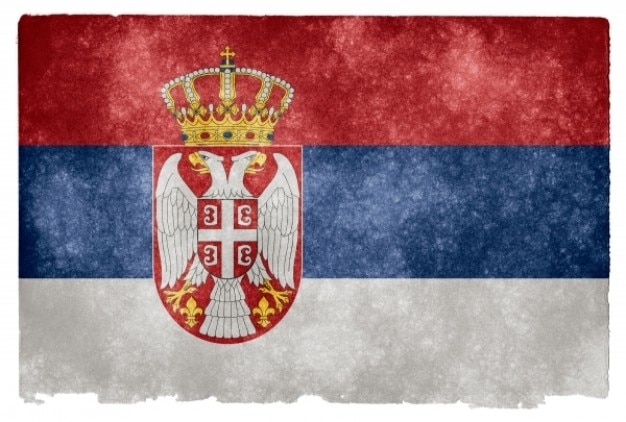 Serbia grunge flag