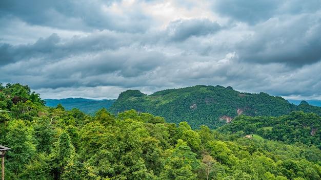 Serene mountain view background