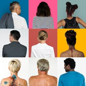 Serie di ritratti di schiene