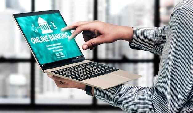 Servizi bancari online per la tecnologia del denaro digitale