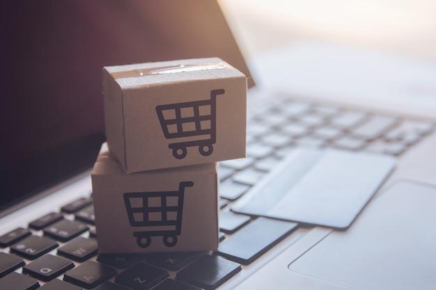 Servizio di acquisto sul web online. con pagamento con carta di credito e consegna a domicilio