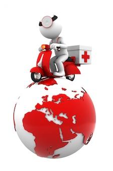 Servizio di emergenza globale. isolato