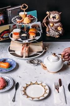 Set da tè inglese pomeridiano
