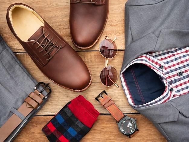 Set di abbigliamento casual moda uomo e accessori