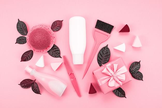 Set di cosmetici per il corpo, corallo immagine tonica