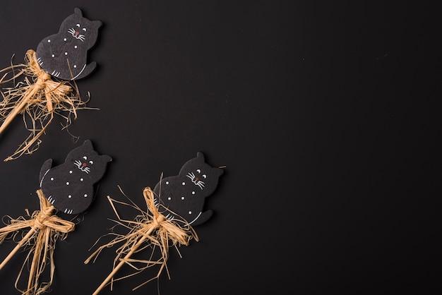 Set di gatti carino per la festa di halloween