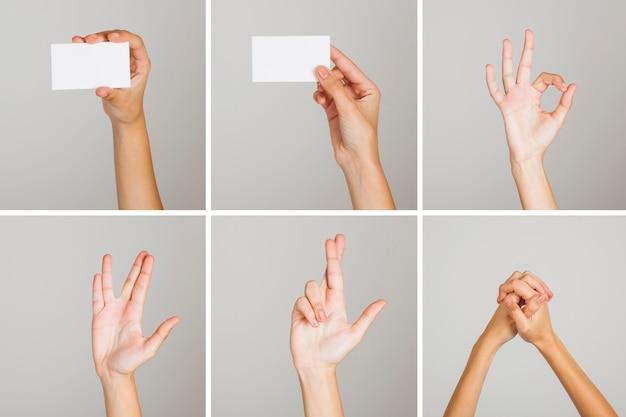 Set di gesti di mano