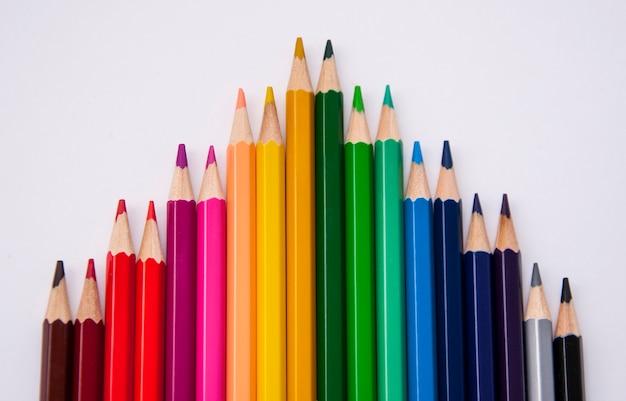 Set di matite colorate per la pittura con sfocatura