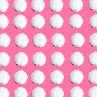 Set di molte palle di neve