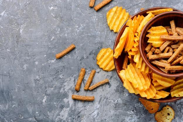 Set di patatine fritte