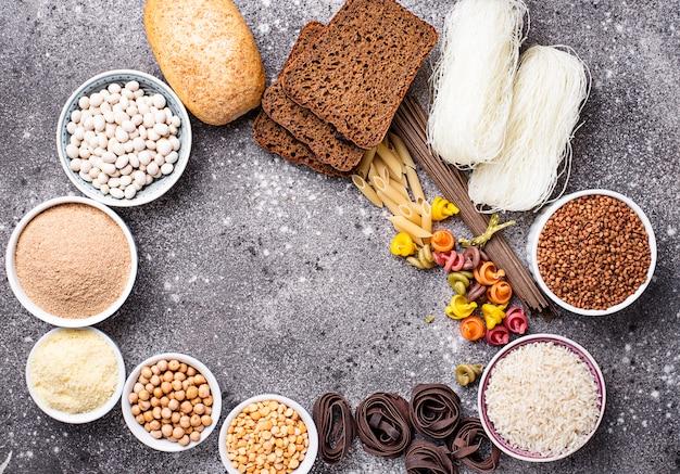 Set di prodotti senza glutine