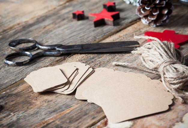 Set di tag regalo per regali di natale