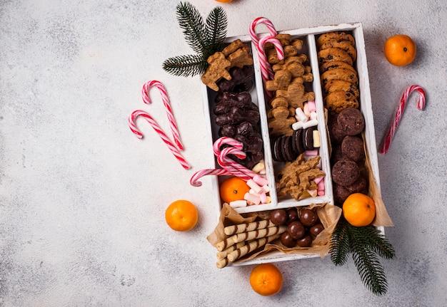Set di vari biscotti di natale