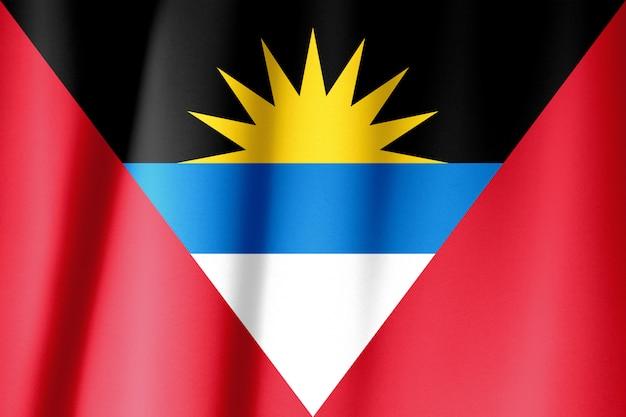 Seta bandiera di antigua e barbuda. bandiera antigua e barbuda in tessuto di seta.