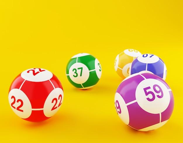 Sfere di bingo della lotteria