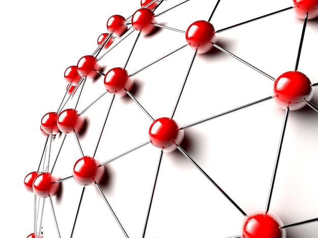 Sfere rosse collegate