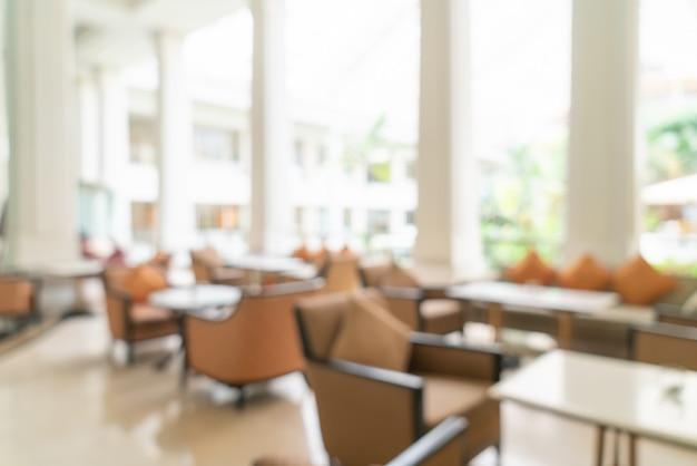 Sfocata lobby dell'hotel di lusso