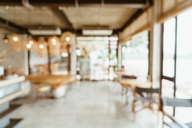 Sfocatura astratta caffetteria o caffetteria