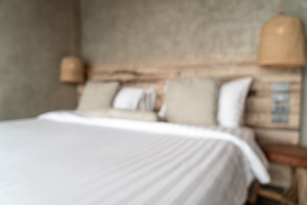 Sfocatura astratta camera da letto decorazione d'interni per lo sfondo