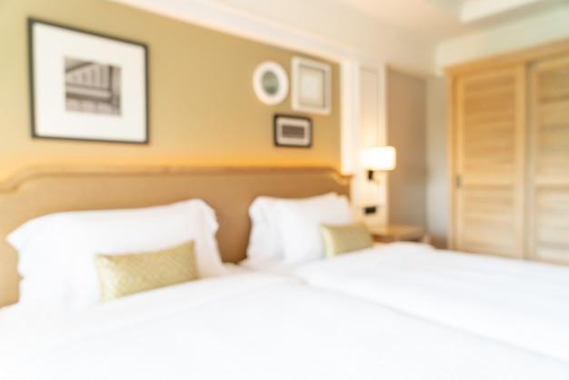 Sfocatura astratta camera da letto dell'hotel per lo sfondo