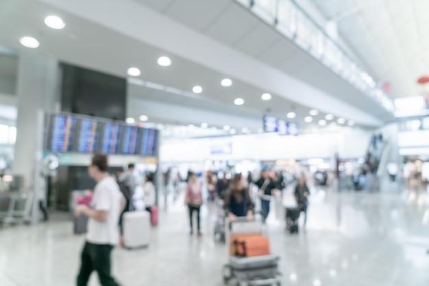 Sfocatura astratta e aeroporto sfocato